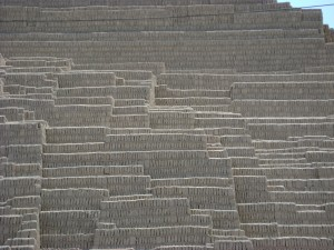 A bit of the Huaca Pucllana, Avenida General Borgono, Miraflores, Lima