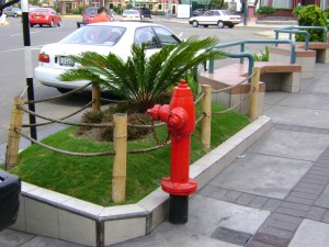 A fire hydrant near Wong's at the Ovalo Gutierrez