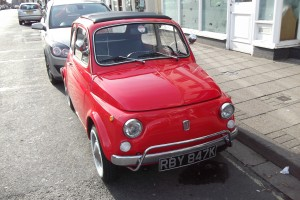 Fiat cinquecento seen in Lymington High Street