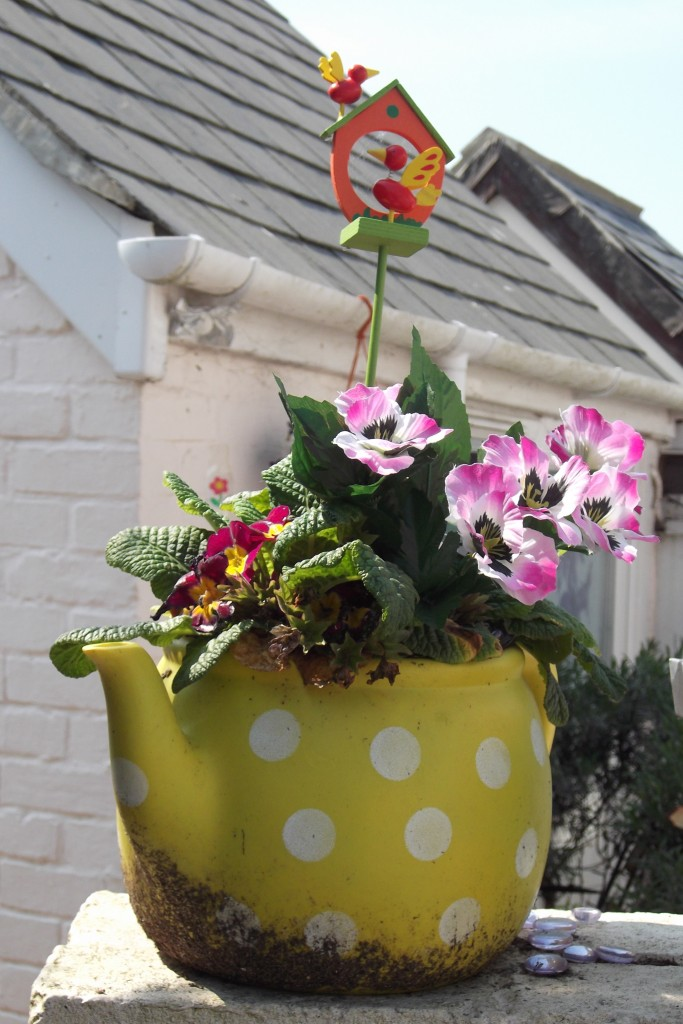 Teapot flower pot